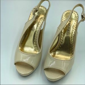 Rampage Flanders Slingback Shoes Size 6